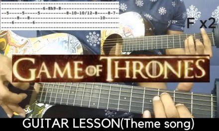 GAME OF THRONES THEME | BEGINNER GUITAR LESSON[TABS  CHORDS]
