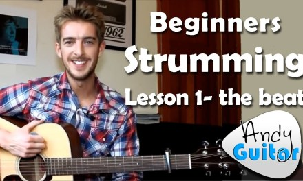 Beginners Guitar Strumming Lesson 1- The Beat – Beginners Course #L102