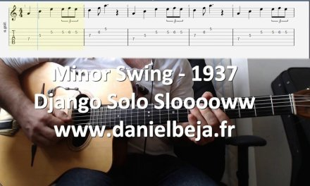 Minor Swing guitar lesson slow