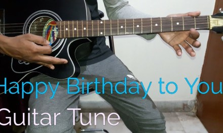 Happy birthday guitar tabs / single string/ guitar lesson for beginners in hindi