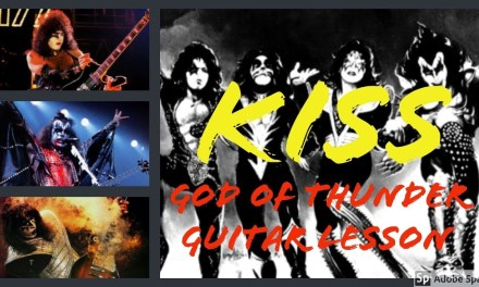 How To Play God Of Thunder Guitar Lesson – Kiss- chords/riffs/solo
