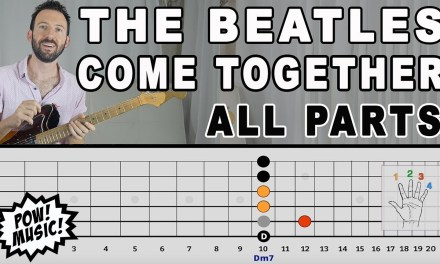 """""""Come Together"""" by The Beatles – Guitar Lesson – All Parts w/ FretLIVE animation"""