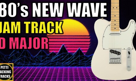 80s New Wave Guitar Backing Track Jam in D Major