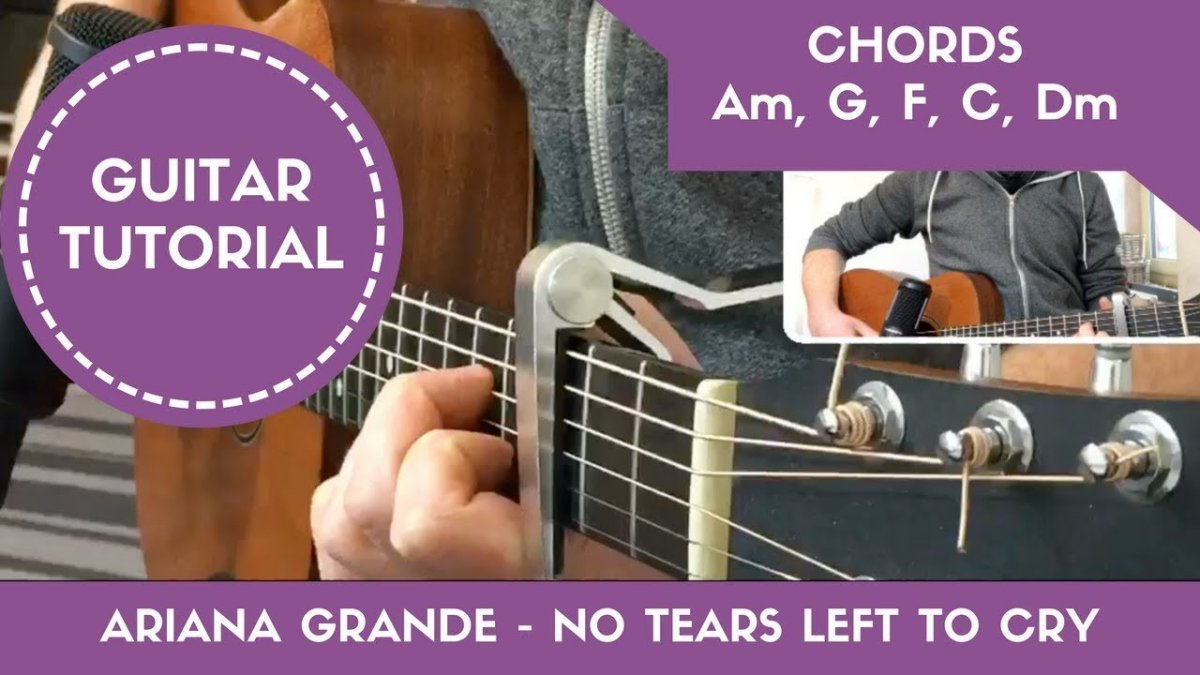 No Tears Left To Cry Ariana Grande Easy Guitar Tutorial Open