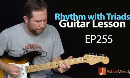 Learn a Driving Blues Rhythm Using Triads – Blues Guitar Lesson – EP255