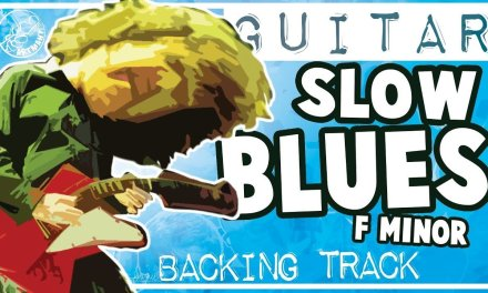 Slow Blues Guitar Backing Track in Fm