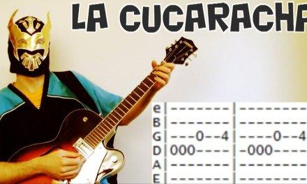how to play La Cucaracha Mariachi Guitar lesson tab chords for Cinco de Mayo