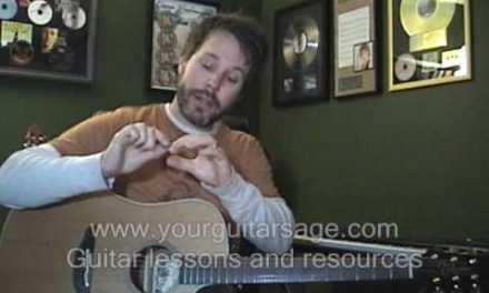 First Guitar Lesson – Posture Hand Techniques – Pick Holding