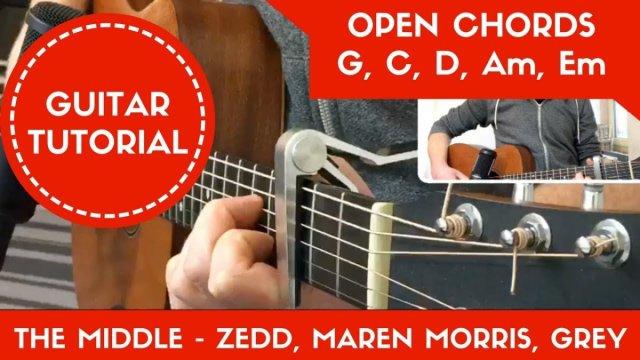 The Middle Zedd Maren Morris Grey Easy Guitar Tutorial Open
