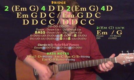 Parachute (Chris Stapleton) Guitar Lesson Chord Chart – Standard Tuning – Double Time