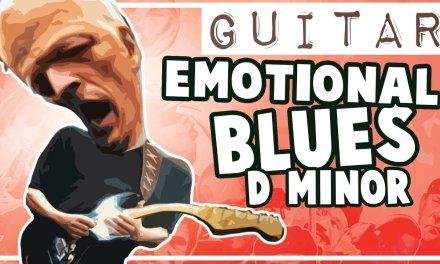 Emotional Blues Backing Track in Dm