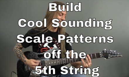 Guitar Solo Tips – Build Cool Sounding Scale Patterns off the 5th String – Steve Stine Guitar Lesson