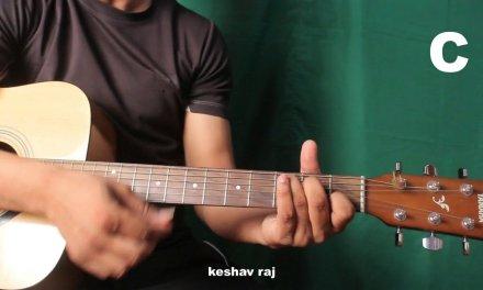 Lag JA Gale-unplugged-Easy Guitar Lesson- Rhythem Chords -Hindi by keshav raj