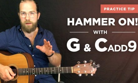"""Hammer-on practice w/ G and Cadd9 (""""Southside of Heaven"""" by Ryan Bingham / guitar lesson)"""