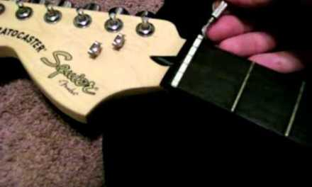 How To Turn A Left Hand Guitar To a Right Hand Guitar or How To Change a Nut On Your Guitar
