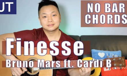 Finesse – Bruno Mars Guitar Lesson | No Bar Chords Version
