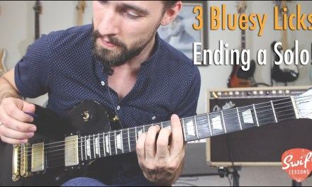 How to Finish a Blues Guitar Solo – 3 Impressive licks!