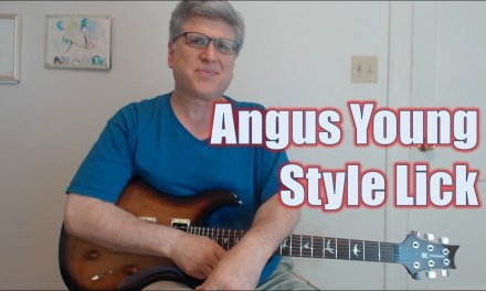 Angus Young Back in Black Style Lick (Guitar Lesson with TAB)