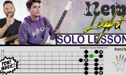 "John Mayer ""New Light"" – GUITAR SOLO – Lesson & Analysis w/ fretLIVE (how to play/tutorial)"