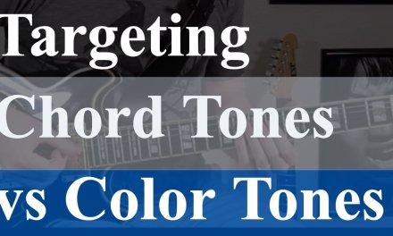 Chord Tones vs Color Tones