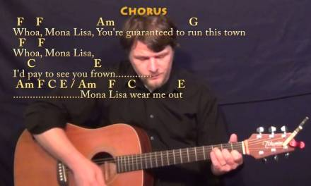 The Ballad of Mona Lisa (PANIC! At the Disco) Strum Guitar Cover Lesson with Chords/Lyrics