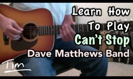 Dave Matthews Band Can't Stop Guitar Lesson, Chords and Tutorial