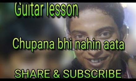So easy 🎸  guitar lesson,How to play Chupana bhi nehin aata (bazigar) 1st intro