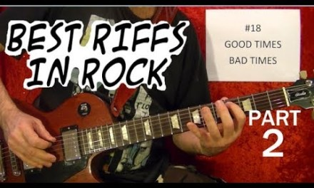 Best Rock Riffs of All Time (1958-2003) – Guitar Lesson – Part 2 of 10