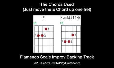 Improv on the Flamenco Scale Backing Track