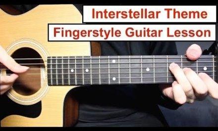 Interstellar (Hans Zimmer) | Fingerstyle Guitar Lesson (Tutorial) How to play Fingerstyle
