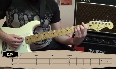 One Point Perspective – Arctic Monkeys Guitar Tutorial Lesson WITH TABS ONSCREEN – Tranquility