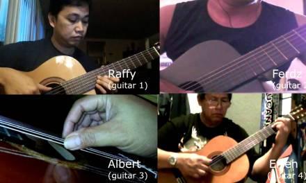 Bahay Kubo (Virtual Guitar Ensemble) – @ 70 bpm – Classical Guitar