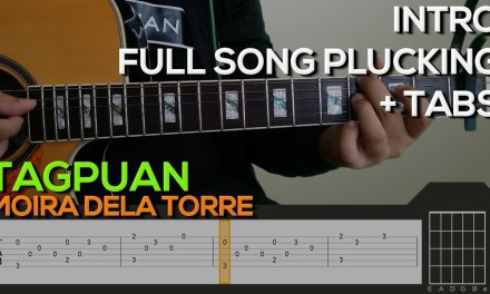 Moira Dela Torre – Tagpuan [INTRO & PLUCKING] Guitar Tutorial with (TABS on SCREEN)