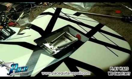 Eddie Van Halen Signature Guitar Set Up by Pace Guitar Repai