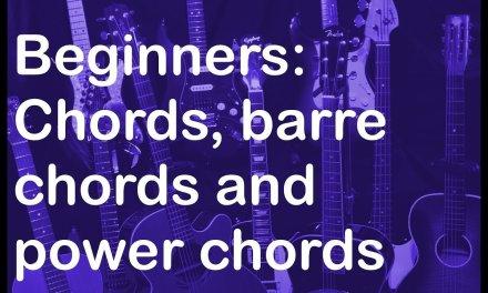 Beginner guitar lesson: Chords