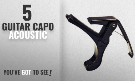 Top 10 Guitar Capo Acoustic [2018]: Bufferman Metal Black Guitar Capo