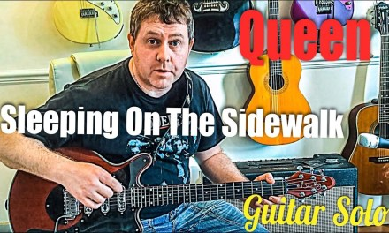 Sleeping On The Sidewalk – Queen – guitar solo Lesson (Guitar tab)