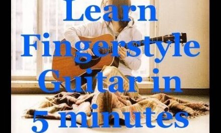 Learn Fingerstyle Guitar in 5 Minutes – A Minor Study Classical Guitar