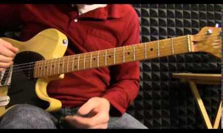 Intermediate blues slide guitar solo in standard tuning – SL009