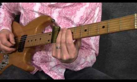 Basic blues slide guitar solo in standard tuning – SL005