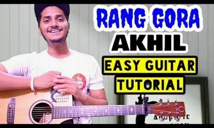 Rang gora – Akhil – Easy guitar chord lesson, Beginner guitar tutorial