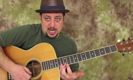 "The ""E"" Acoustic Blues Scale that is the roadmap to playing up and down the back"