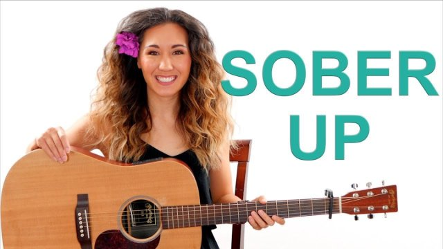 Sober Up – AJR Guitar Tutorial NO BARRE CHORDS and Play Along | The Glog