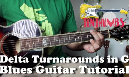 3 Delta Blues Turnarounds in G with Tabs – Acoustic Blues Guitar Tutorial