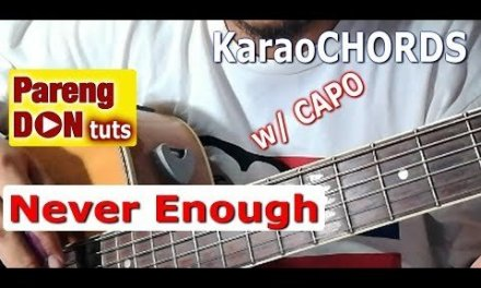 Chords of Never Enough (The Greatest Showman) Quick Guitar Tutorial