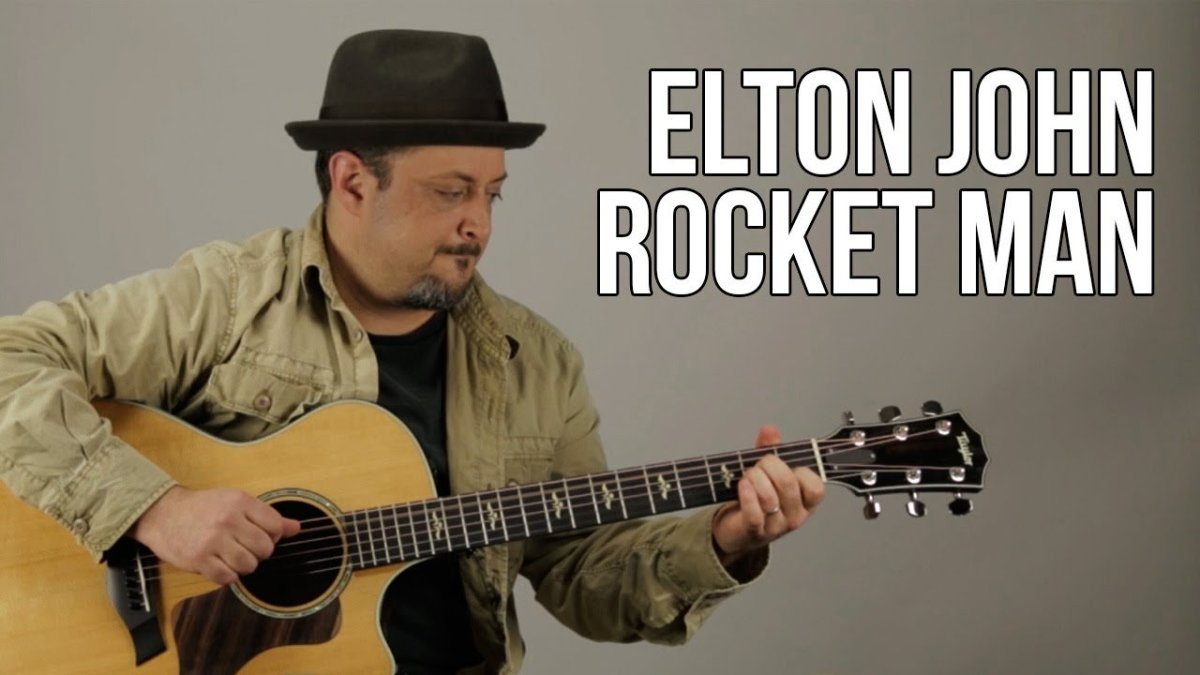 Elton John Rocket Man Guitar Lesson How To Play Acoustic Easy