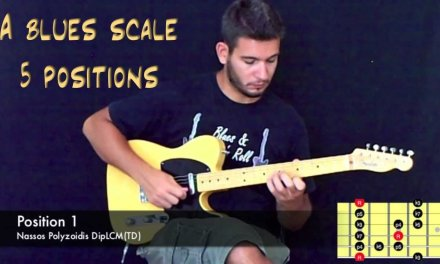 A Blues Scale in 5 positions – Guitar Lesson