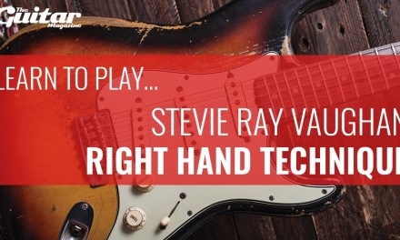 Stevie Ray Vaughan Right Hand Technique Guitar Lesson | Learn To Play