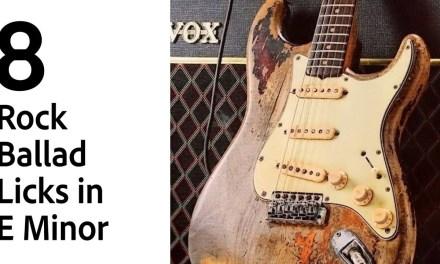 8 Rock Ballad Licks in E Minor