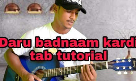 Daru Badnaam Kardi guitar tab lesson punjabi song tutorial in hindi